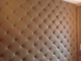 Декоративные стеновые панели из кожи для внутренней отделки стен
