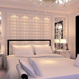 Мягкие стеновые панели для спальни фото