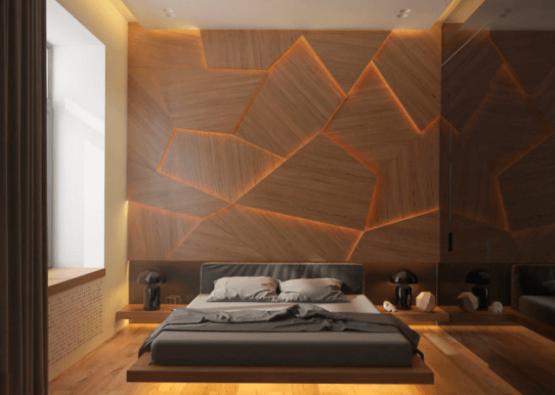3д стены из дерева без узоров