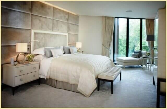 Мягкие панели над кроватью