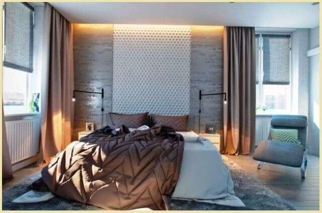 Foto: Стеновая мягкая плита во всю стену над кроватью   my-floor.in.ua