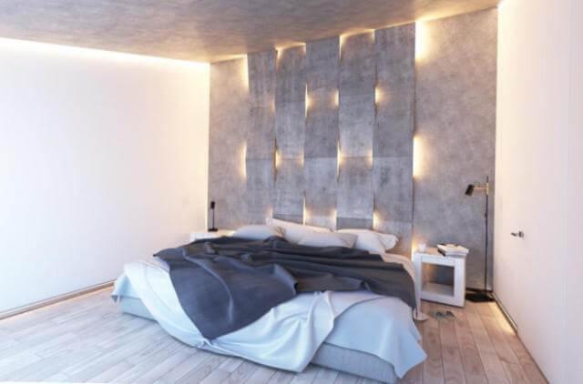 Декорирование изголовья кровати панелями со светодиодной подсветкой